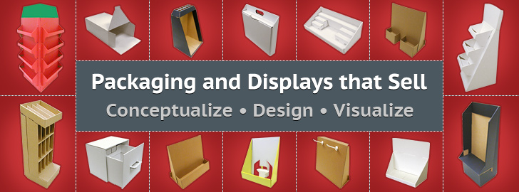 Packaging and Displays that Sell. Conceptualize • Design • Visualize