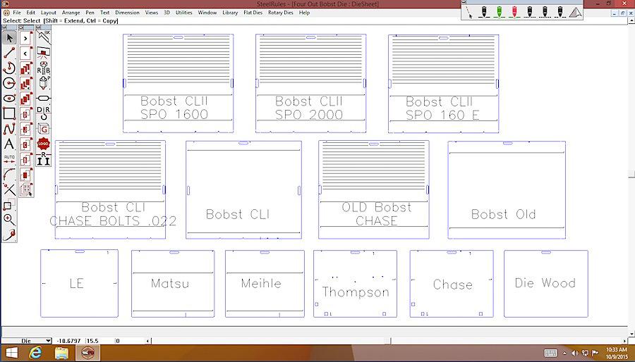 cad for display packaging steel rule die design alphacorr