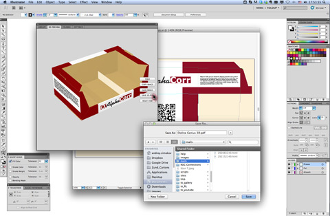 Save or export the packaging or point-of-purchase display design as a 3D PDF.