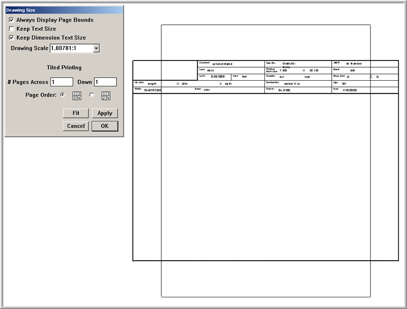 CAD for Display Packaging Steel Rule Die Design Technical – Spec Sheet Template